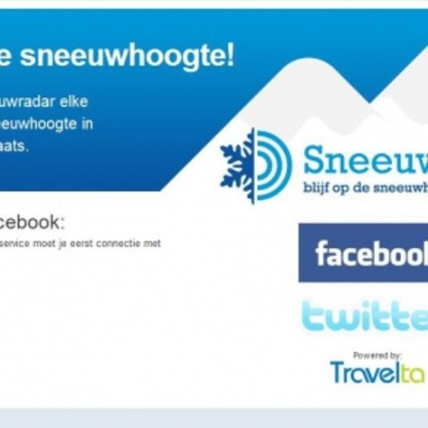Actuele sneeuwhoogtes via Facebook & Twitter