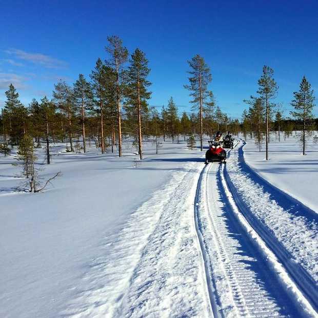 Sneeuwscootertocht door Gold of Lapland