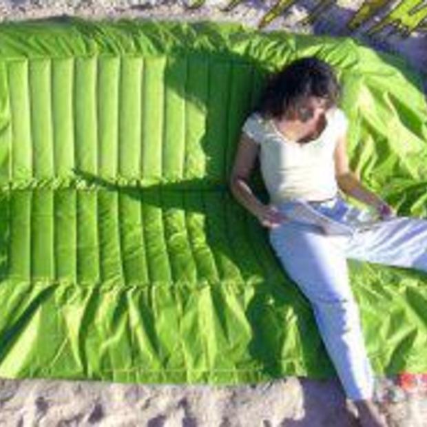 Een handige strandbank