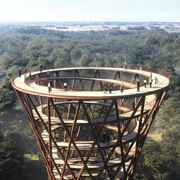 De Treetop Experience in Denemarken: op grote hoogte genieten
