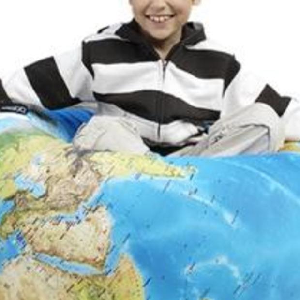 Travel gadget: Wereldbol zitzak