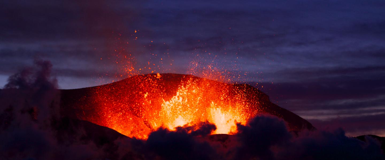 Geweldige foto IJslandse vulkaanuitbarsting