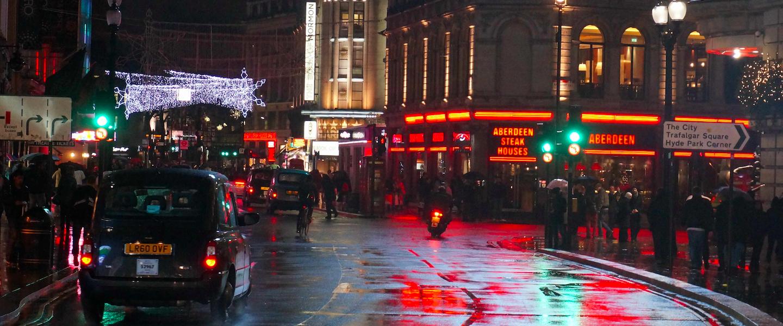In Londen moet het regenen