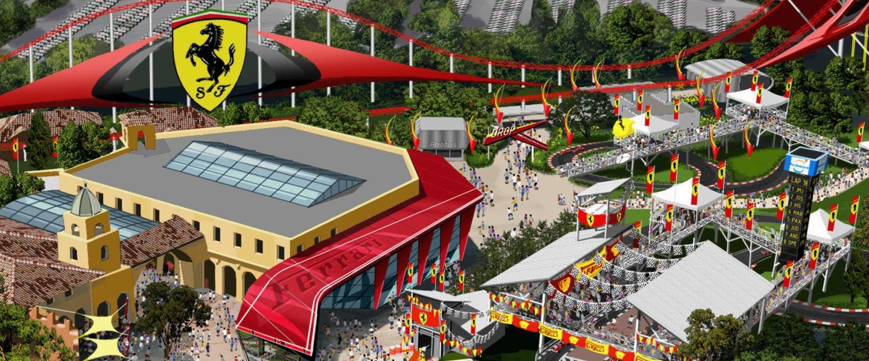 Themapark Ferrari land opent in 2017 haar deuren bij Portaventura in Spanje