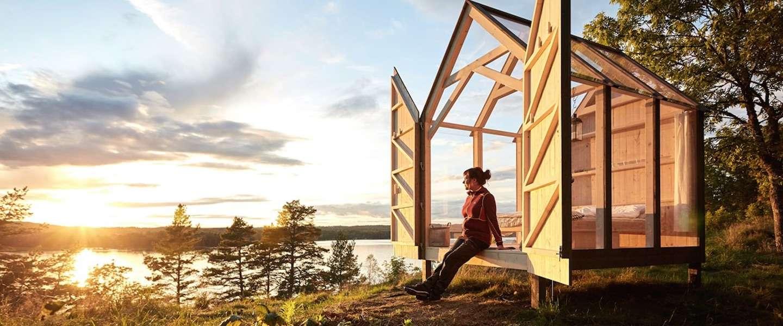 In 72 uur ontstressen in dit Zweedse glazen huisje