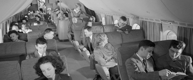 Deze foto's laten zien hoe comfortabel vliegen in de jaren '50 was