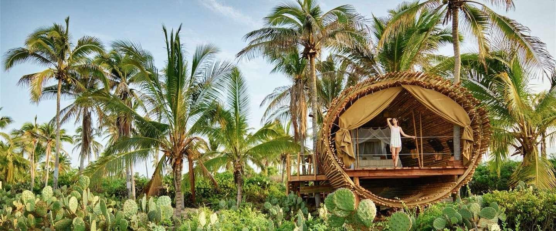 Geen boomhut maar een droomhut in Mexico
