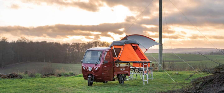 Met deze elektrische mini-camper wil je nú op reis!