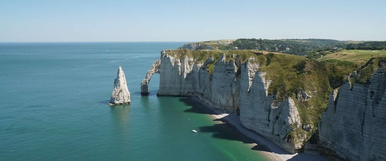 De krijtrotsen van Etretat: een van de mooiste plekjes aan de Franse kust