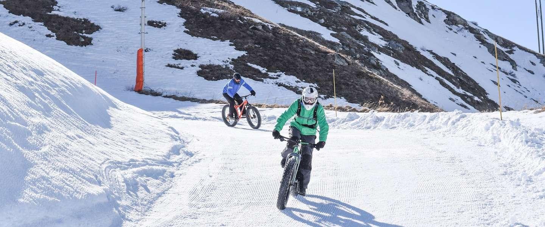Fatbiken in de sneeuw: in Les Menuires ontdek je hoe leuk dat is!