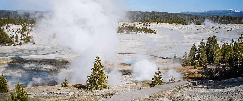 Na 6,5 jaar spuit de Giantess-geiser in Yellowstone weer