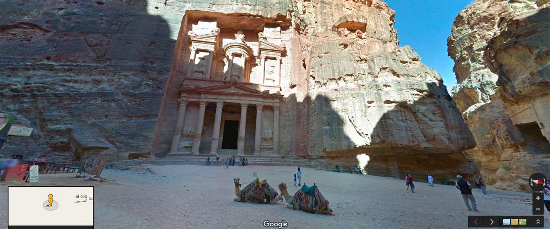 Google Street View trekt door Jordanië