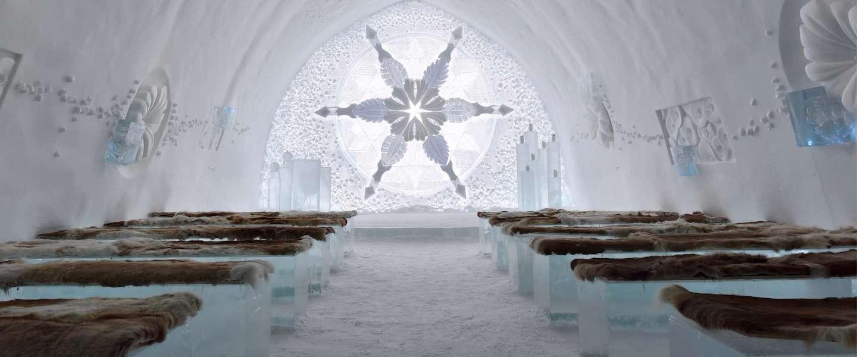 Voor op je bucketlist: slapen in het ijshotel in Zweden
