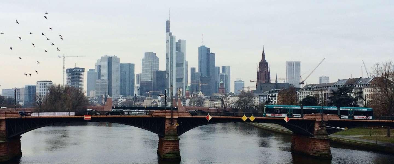 Kerstshoppen in het Duitse Frankfurt
