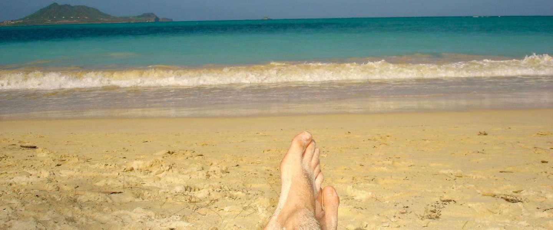 Paradijs op aarde: Lanikai Beach op eiland Oahu (Hawaii)