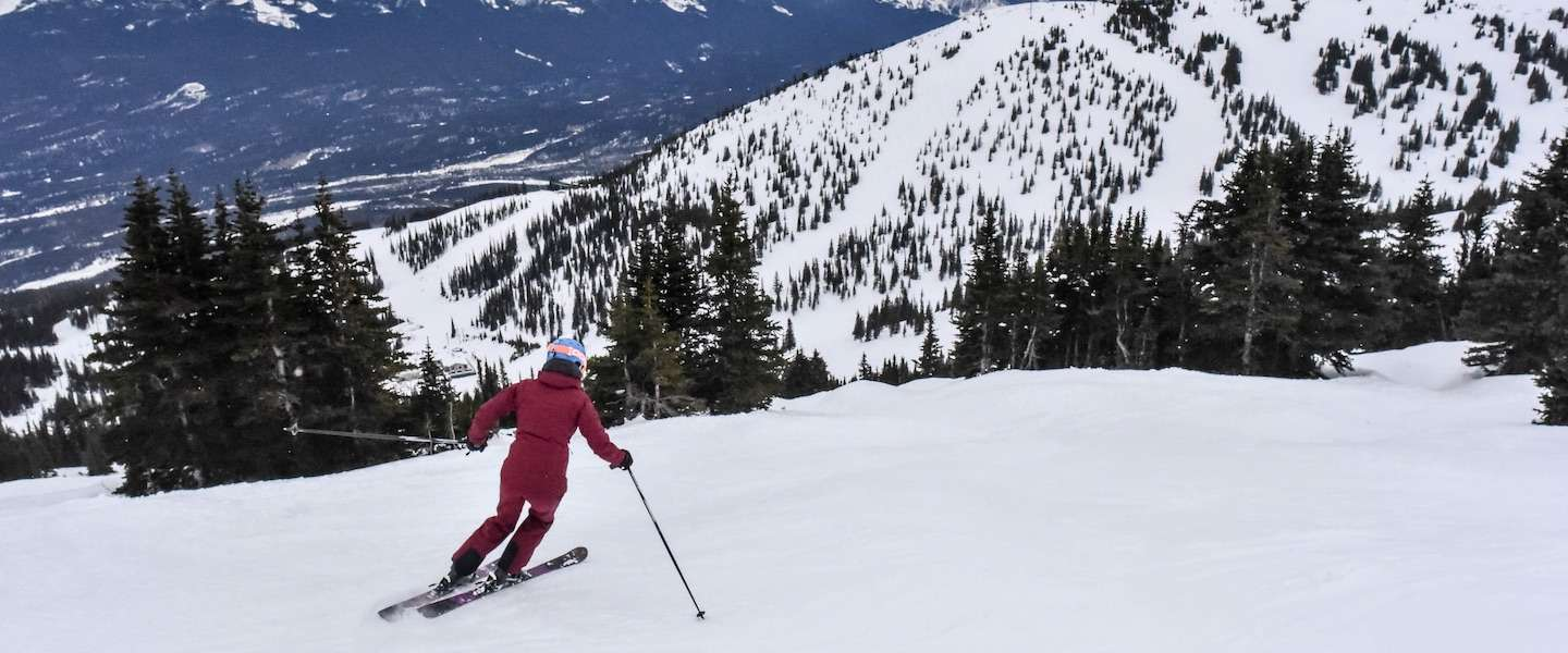 De serene schoonheid van wintersport in Marmot Basin