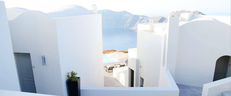 Magische beelden van het witte wonder Santorini