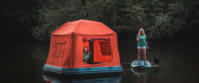De wereld is jouw waterbed met deze Shoal Tent