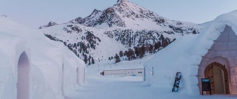 In dit skigebied in Tirol kun je slapen in een echte iglo!
