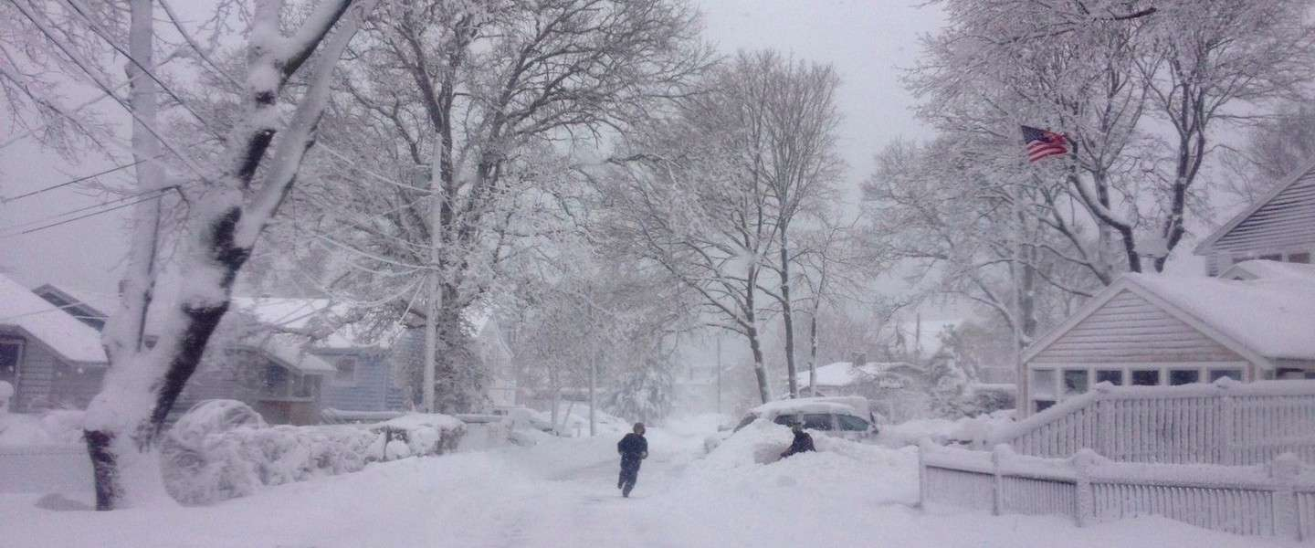 Boston Blizzard Challenge: snow jumpers in Boston
