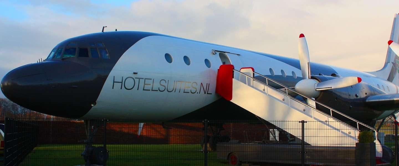 Een vliegtuig als hotelkamer
