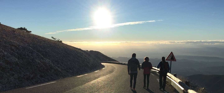Avondwandeling op de top van de Mont Ventoux