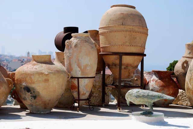 Aardewerk in Ilana Goor Museum