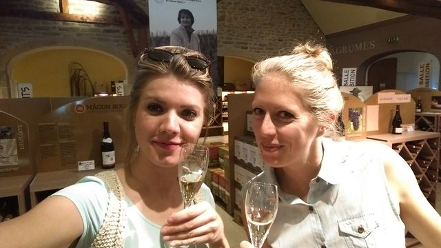 Champagne-selfie