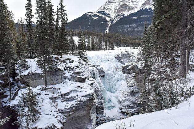 athabasca-falls-winter