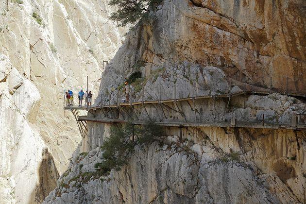 Caminito del rey glazen plateau