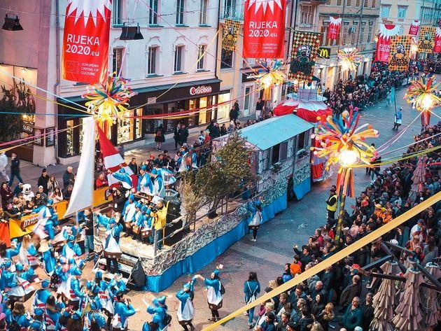 Carnavalsoptocht Rijeka Kroatie (9)