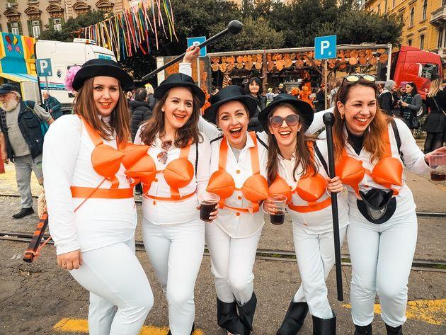 Carnavalsvierders in Rijeka