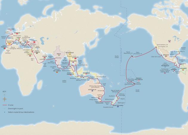 cruise-wereld-route