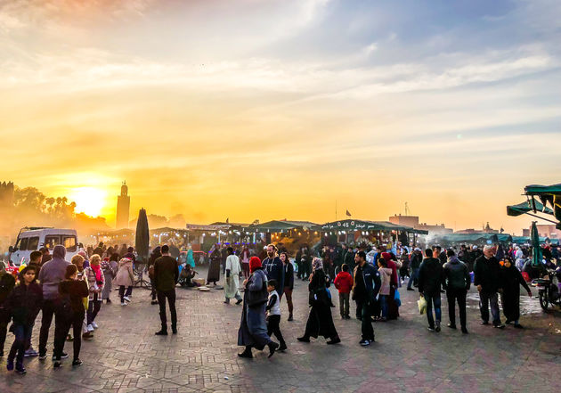 Djemaa-el-Fna-sunset