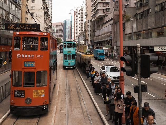 Dubbeldekstram Hongkong