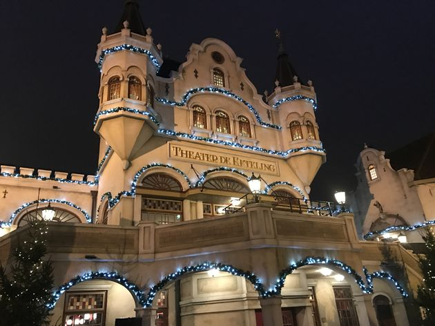 Efteling theater in kerstsfeer