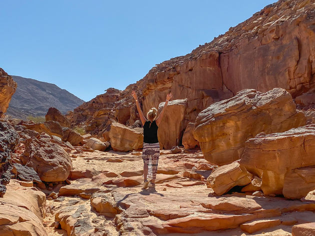 egypte-wandelen-canyon