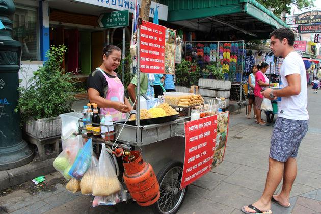 Eten doe je voor een prikkie op straat