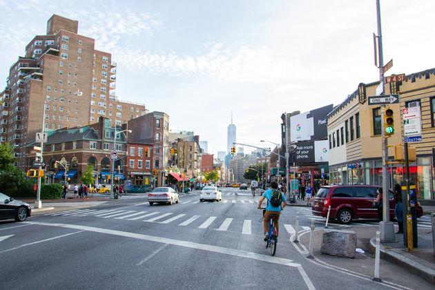 Fietsen-door-new-york