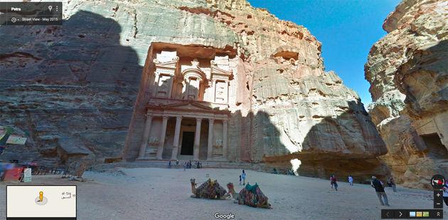 Google Street View Petra
