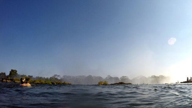 Zwemmen in de Zambezi