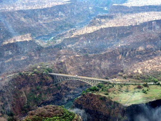 Grens Zimbabwe Zambia Zambezi rivier