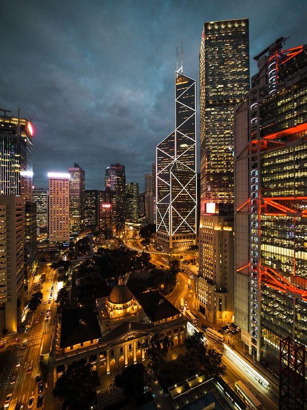 Hongkong Bank of China toren en het oude Hooggerechtshof