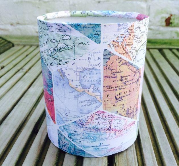 kaarsenhouder-wereldkaart
