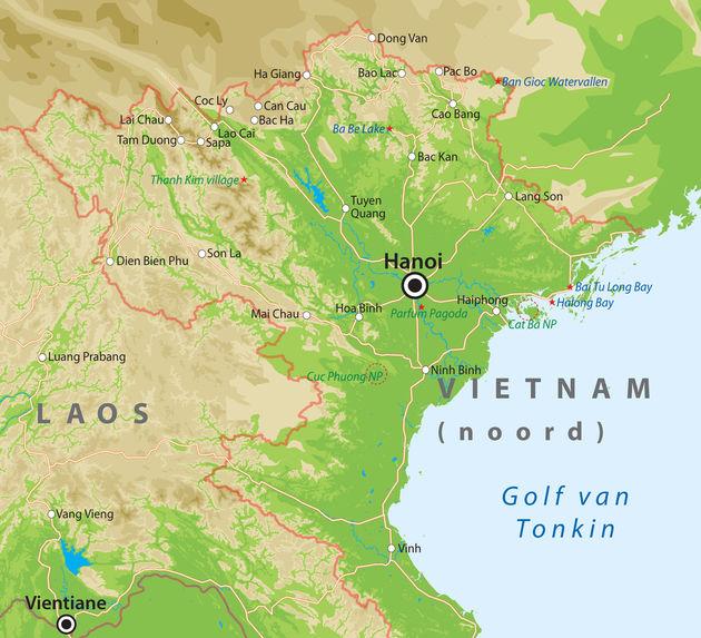 kaart-noord-vietnam