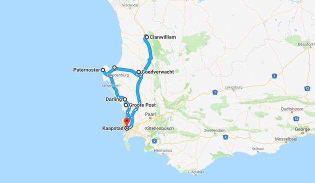 kaart-westkust-zuid-afrika