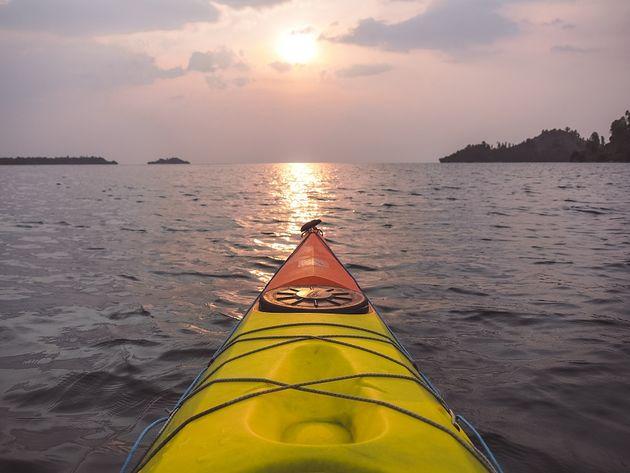 Kajakken Kivumeer Rwanda