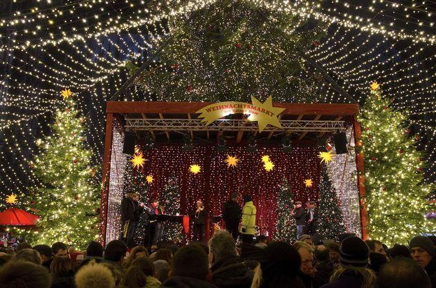 Kerstmarkt podium