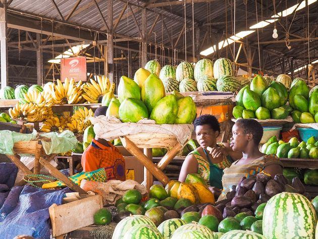 Kigali Kimironko versmarkt