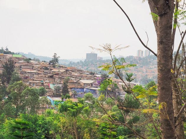 Kigali uitzicht vanaf Genocide Memorial Centre